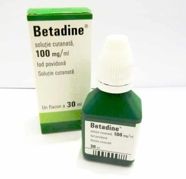 Betadine soluţie cutanata. Prospect