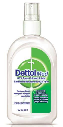 DettolMed spray cutanat, soluţie