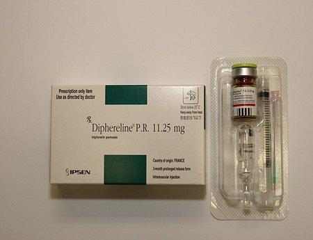 Diphereline pulbere şi solvent pentru soluţie injectabila